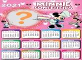 Calendário 2021 Minnie Confeiteira Foto Colagem