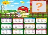 Moldura Infantil Calendário 2020 Fazendinha