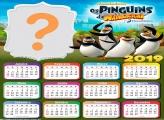 Calendário 2019 Os Pinguins de Madagascar
