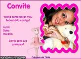 Niver Convite Rosa da Bailarina