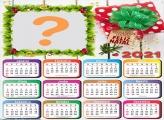 Calendário 2021 Natalino Colagem com Fotos Online