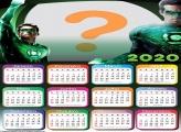 Calendário 2020 Lanterna Verde Foto Moldura