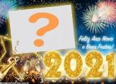 Colagem de Foto Feliz Ano Novo 2021