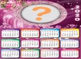 Colagem de Foto Calendário 2020 de Flores