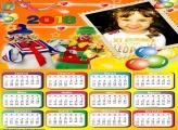 Calendário 2018 Patati Patatá Personagens