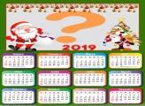 Calendário 2019 Papai Noel e Árvore Feliz