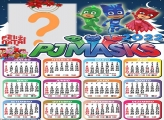 Calendário 2022 Natal PJ Masks Editar Online