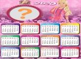 Calendário 2020 da Barbie Jovem Moldura