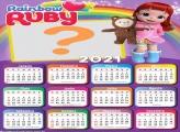 Rainbow Ruby Foto Montagem Calendário 2021