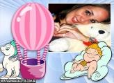 Moldura Balão Cor de Rosa