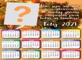 Calendário 2021 Um Ano Novo Abençoado com Foto