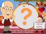 Vovô Feliz Natal Colocar Foto em Moldura
