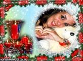 Moldura Velas de Natal