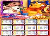 Calendário 2017 Ursinho Pooh