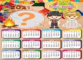 Montar Calendário 2021 de Festa Junina
