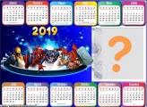 Calendário 2019 Horizontal Marvel