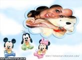 Baby Disney Nuvem Moldura