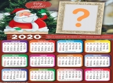 Calendário 2020 Papai Noel na Chaminé