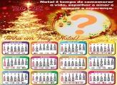 Calendário 2022 Tenha um Feliz Natal Colagem