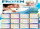 Calendário 2017 Elsa Frozen Princesa do Gelo