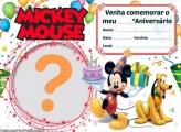 Convite Mickey Online Aniversário