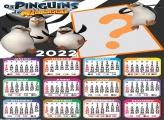 Calendário 2022 Pinguins de Madagascar Online