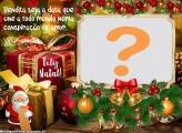 Frase de Natal de Amor com Foto Montagem