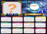 Calendário 2020 Papai Noel Azul