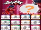 Calendário 2022 LadyBug Gratuito Online
