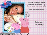 Convite Aniversário Peppa Pig
