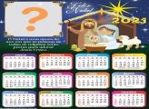 Calendário 2021 Foto Montagem com Presépio de Natal