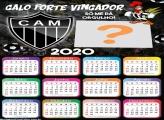 Calendário 2020 do Atlético Mineiro Foto Montagem