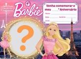 Convite Barbie Paris