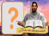 Jesus em tua Presença Colagem de Foto