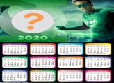 Foto Montagem Calendário 2020 Lanterna Verde