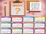 Moldura Calendário 2021 Brinde aos Recomeços