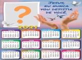 Calendário 2021 Mensagem de Jesus Foto Montagem
