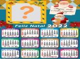Calendário 2022 Papai Noel Correios Colagem Grátis
