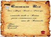 Convite Pergaminho Príncipe