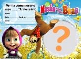 Convite da Masha e o Urso Aniversário
