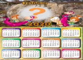 Moldura para Calendário 2020 Flintstones