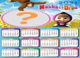 Calendário 2021 Masha e o Urso Montagem Online