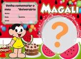 Convite da Magali Virtual Aniversário