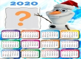 Calendário 2020 Olaf Foto Montagem Grátis