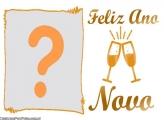 Feliz Ano Novo Taças de Champanhe