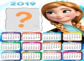 Calendário 2019 Anna Frozen