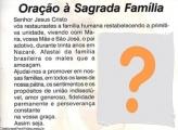 Oração à Sagrada Família Moldura