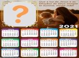 Calendário 2021 Minha Mãe Deus Ilumine Moldura