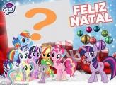 Emoldurar Foto de Feliz Natal My Little Pony