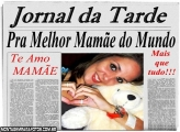 Moldura Jornal Dia das Mães